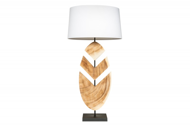 Stolní lampa Organic Artwork 91cm - ořech / 39629