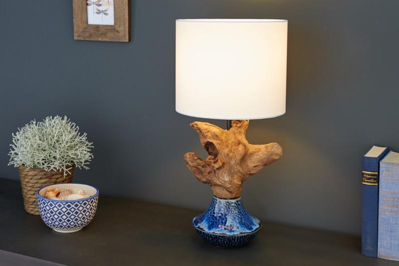 Stolní lampa symbióza 50cm keramické naplavené dříví / 39673