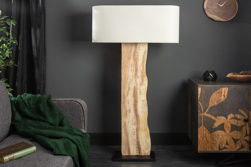Stojací lampa Organic Living - béžová, ořech / 39620