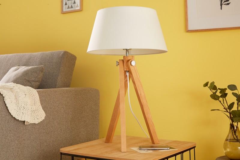 Stolní lampa Stativ 64cm bílý retro / 39677