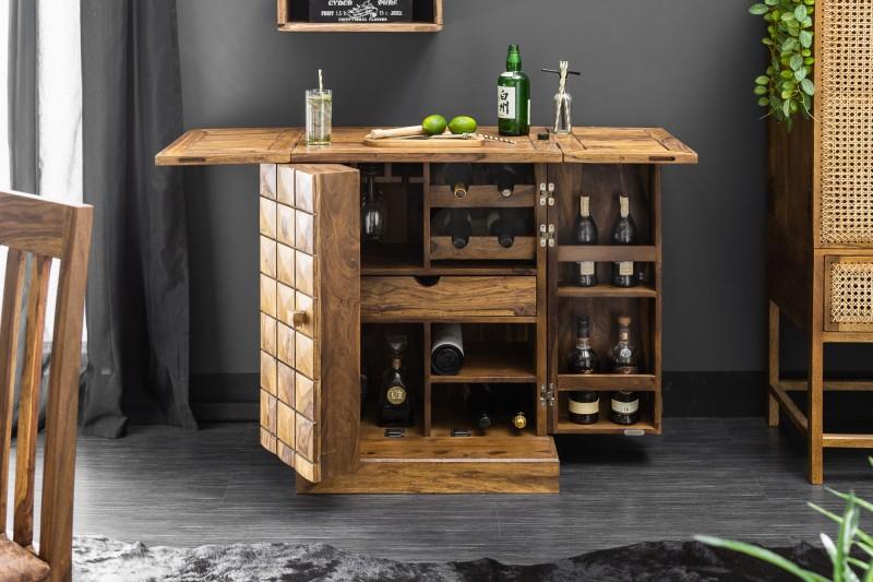 Barová skříňka Havana 130cm x 90cm - Sheesham / 39749