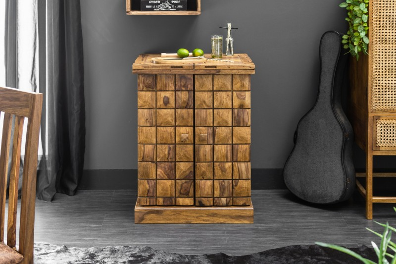 Barová skříňka Mosaico 130cm Sheesham / 39749