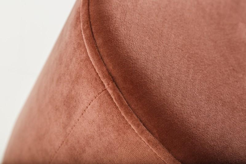 Stolička Moderní barokní 35cm stará růžová stříbrná / 39601