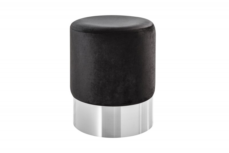 Stolička Moderní barokní 35cm černá stříbrná / 39604