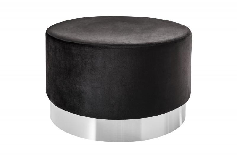 Moderní barokní stolička 55cm černá stříbrná / 39606