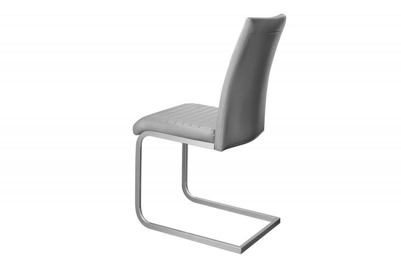 Jídelní židle Chloe - šedá, chrom / 39379
