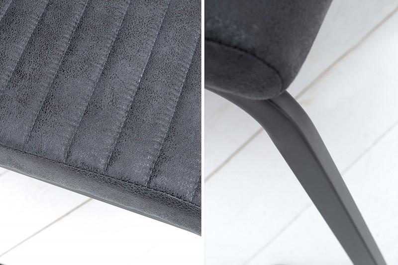 Konzolový byt starožitný šedý černý / 39378