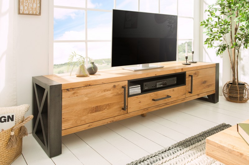 Televizní stolek Etrusco 200cm x 50cm  - divoký dub / 38810