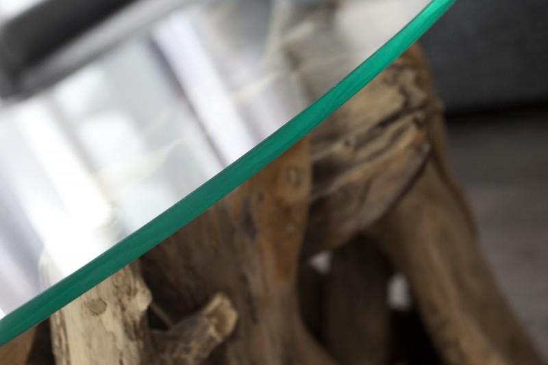 Skleněná deska pro stolky 60cm - tvrzené sklo  / 23208-2