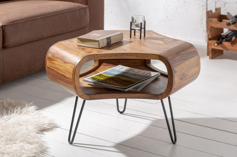 Konferenční stolek Falun 60cm x 60cm -  Sheesham / 39752