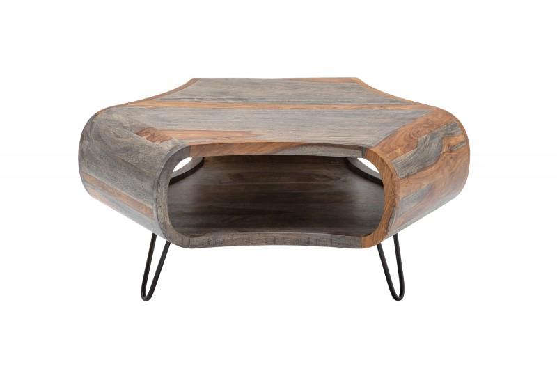 Konferenční stolek Falun 70cm x 70cm - Sheesham, šedý / 39753