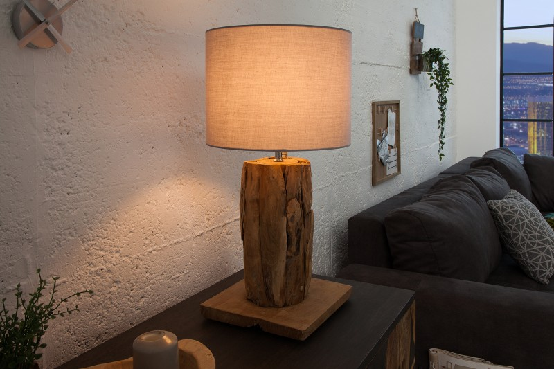 Stolní lampa Roots (stínítko) - šedá / 39727