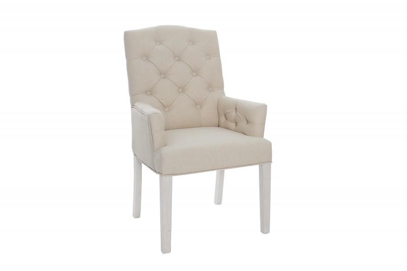 Jídelní židle Royal de Luxe - béžová, bílá / 36084