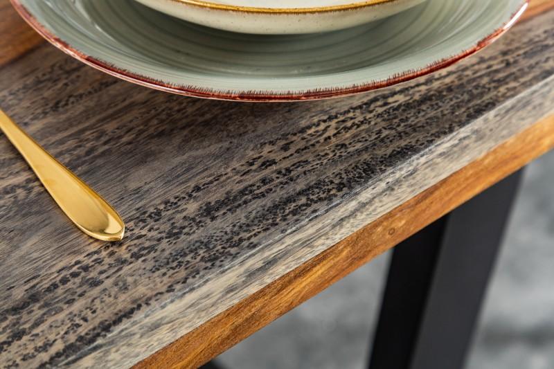 Jídelní stůl Fire-Earth 160cm - kouřová šedá / 39747