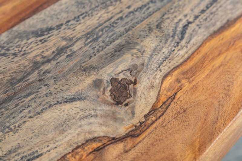 Jídelní stůl Malabo 160cm x 90cm - Sheesham, kouřově šedý / 39747