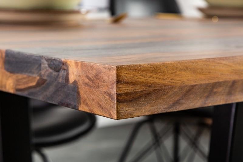 Jídelní stůl Malabo 200cm x 100cm - Sheesham, kouřově šedý / 39748