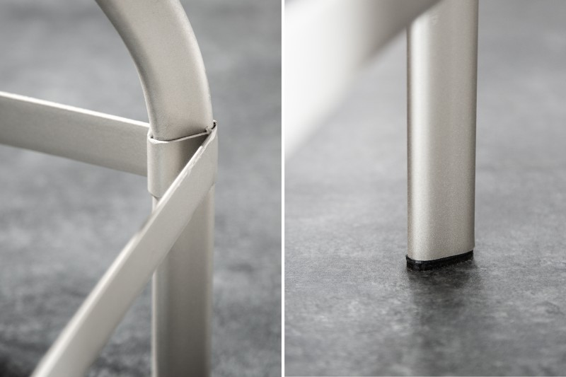 Barová židle Iron Craft 60-74cm - šedá, mango / 39456
