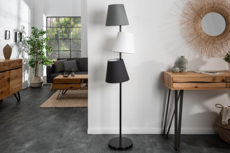 Stojací lampa Friida 163cm-  černá, šedá / 39674