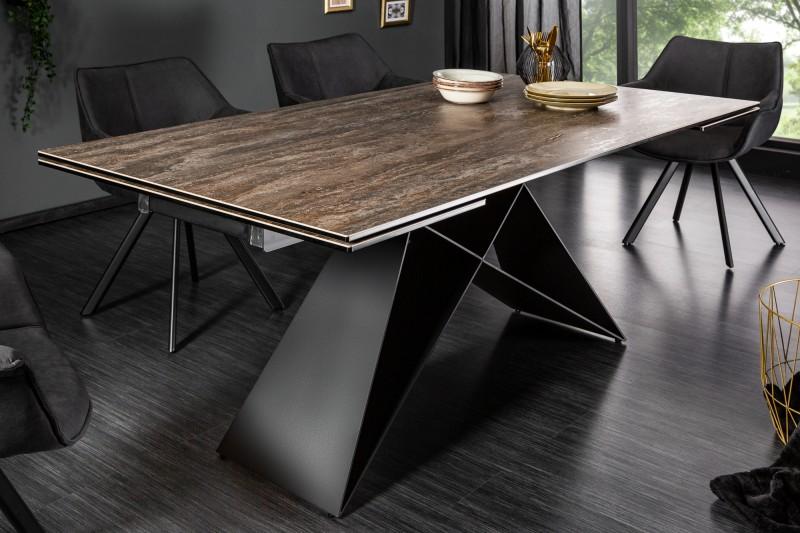 Jídelní stůl Prometheus 180-260cm rez / 39561