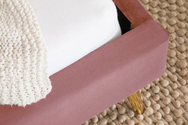 Postel Dawies 140cm x 200cm - tmavě růžová, samet / 39693