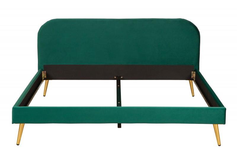 Postel Dawies 140cm x 200cm - smaragdová, samet / 39694