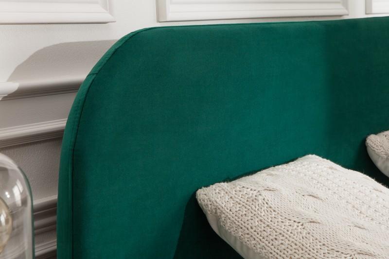Postel Dawies 160cm x 200cm - smaragdová, samet / 39695