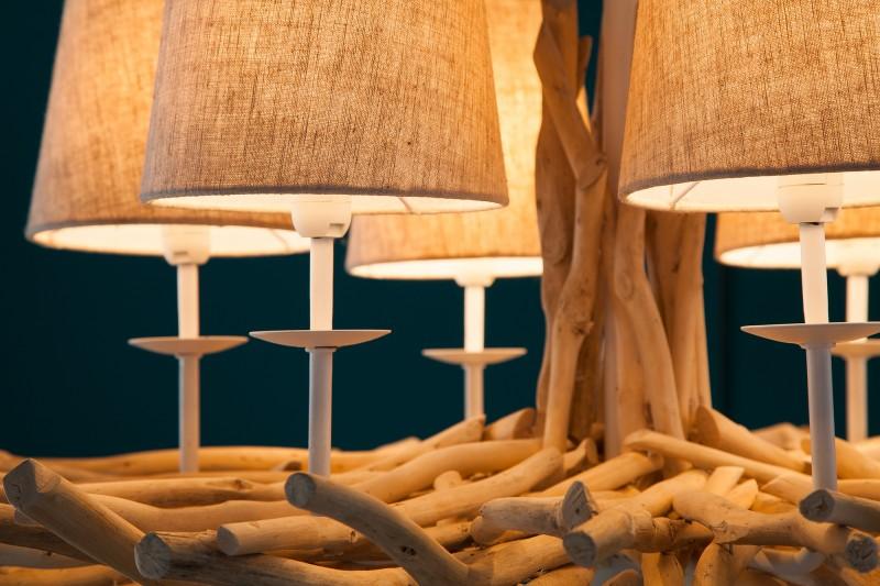 Závěsná lampa Genevieve II - naplavené dříví / 39616