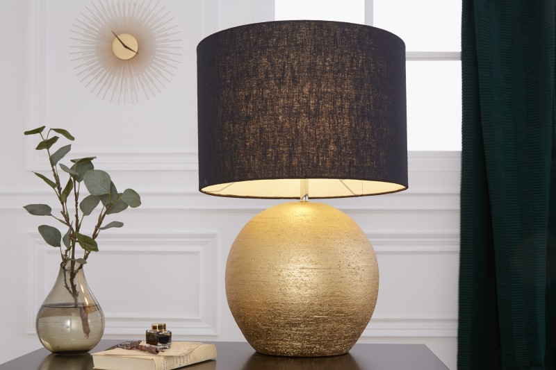 Stolní lampa Elegancia 57cm černé zlato / 39643
