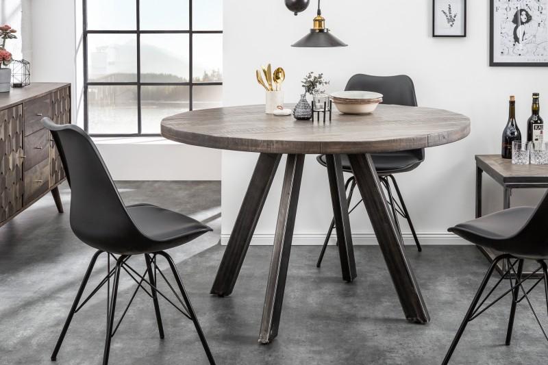 Jídelní stůl Hobart Round 120cm - šedé mango / 39585