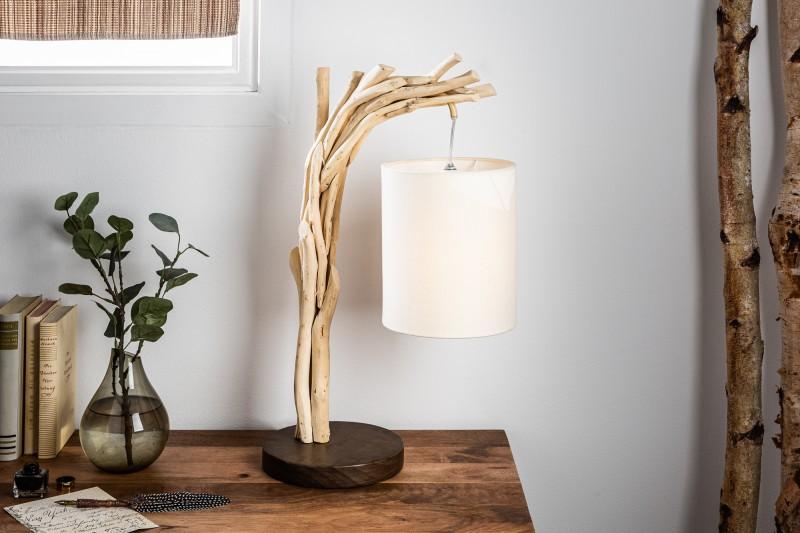Stolní lampa Wild Nature 60cm naplavené dříví / 39635