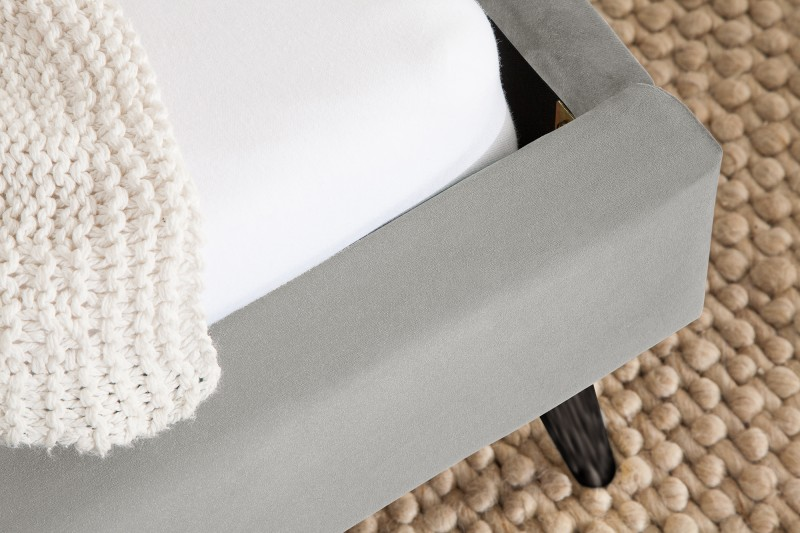 Postel Dawies 140cm x 200cm - stříbrno šedá, samet / 39696