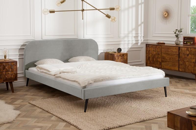 Postel Dawies 160cm x 200cm - stříbrno šedá, samet / 39697