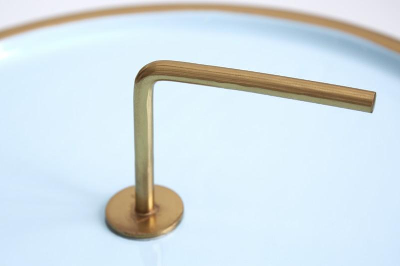 Stolek Runde 42cm - tyrkys, zlatá / 39494