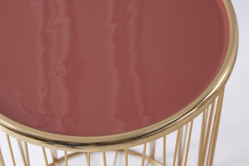 Konferenční stolek Storage z korálového zlata / 39498