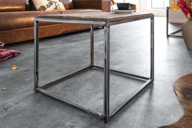 Konferenční stolek Mikael 40cm x 40cm - recyklované dřevo / 39586
