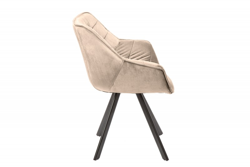 Jídelní židle Molly Comfort - stříbrno-šedá, samet / 38596