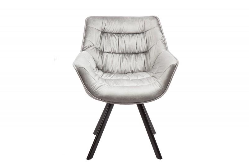Židle Dutch Comfort sametově šedá / 38595