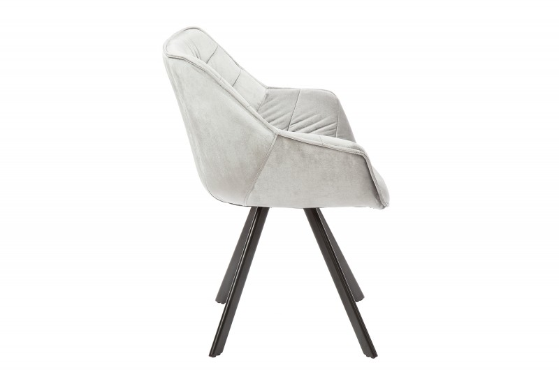 Jídelní židle Molly Comfort - šedá, samet  / 38595