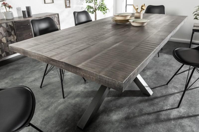 Jídelní stůl Galaxie 200cm x 100cm - šedé mango / 39442