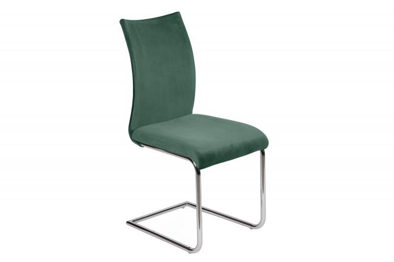 Jídelní židle Emily - smaragdová, samet / 39415