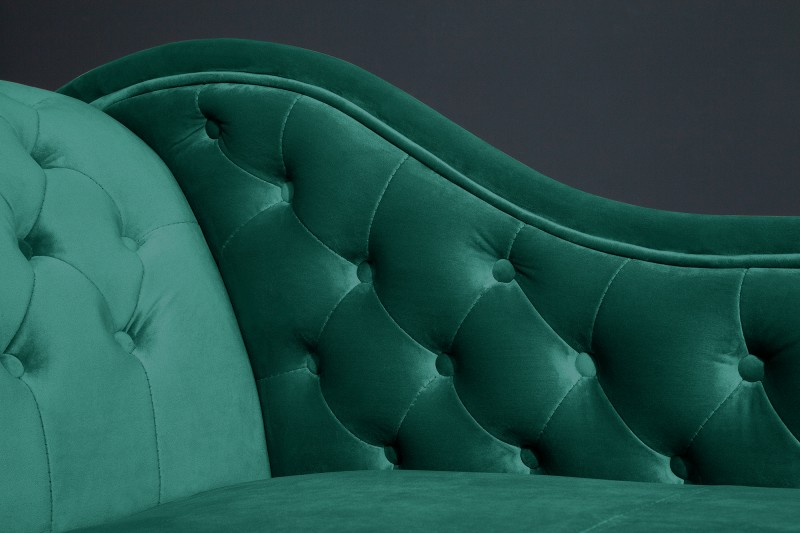 Lenoška Chesterfield 170cm - smaragdová / 39429