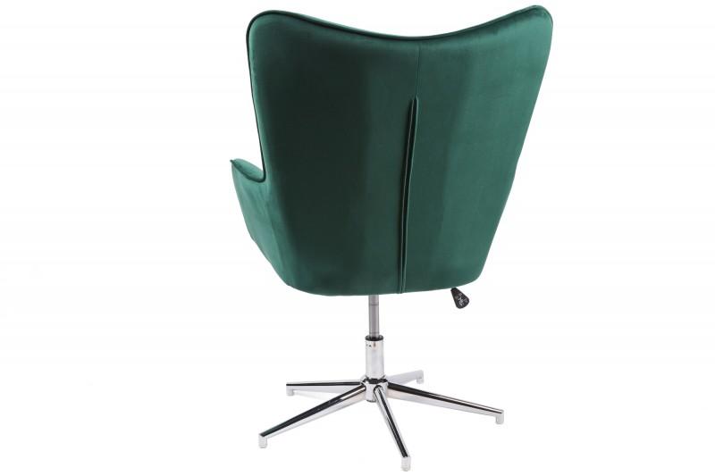 Křeslo Saga - smaragdově zelený samet / 39512