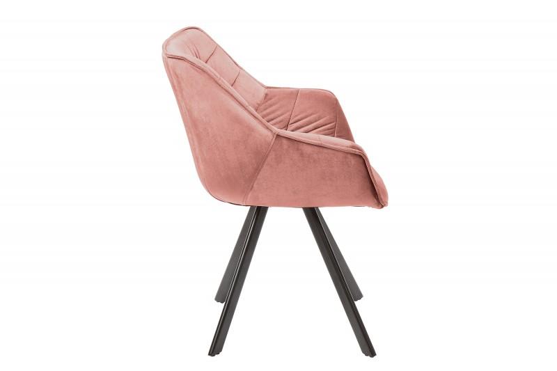 Jídelní židle Molly Comfort - tmavě růžová, samet / 39476