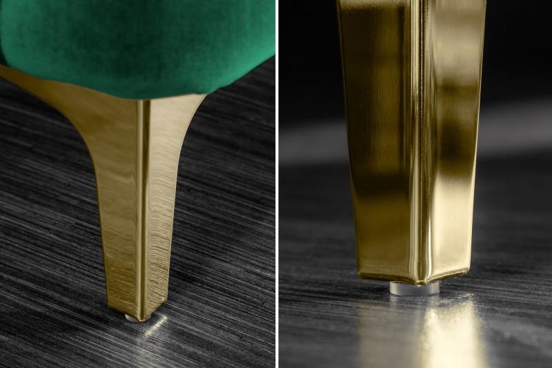 Moderní barokní pohovka 240 cm smarad zelené zlato / 39312