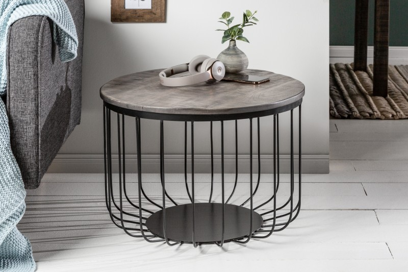 Konferenční stolek Factory Loft 56cm šedá akát / 39672