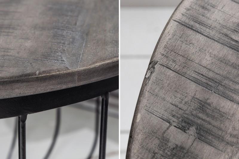 Konferenční stolek Warren 56cm - akát, šedý / 39672
