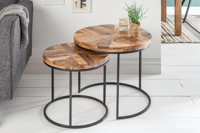 Konferenční stolek Dorado Parket 2ks -  přírodní mango / 39591