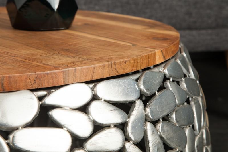 Konferenční stolek Magic 2ks - stříbrný, mango / 39519