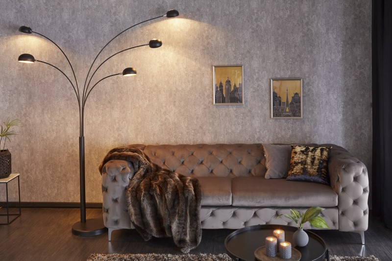 Stojací lampa Five Lights - černá, zlatá  / 22967