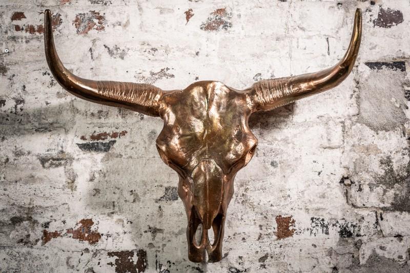 Dekorační lebka Matador 70cm plamenná měď / 39533